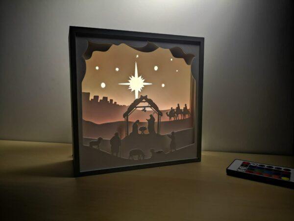 Nașterea Domnului - Tabloul luminos 3D shadow box