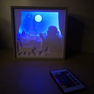 tablou shadow box paris twenties multicolor